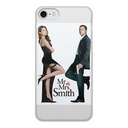 """Чехол для iPhone 7, объёмная печать """"Mr.and Mrs. Smith."""" - кино, чехол, чехлы на телефон, акссесуар"""