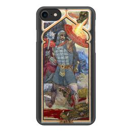"""Чехол для iPhone 7, объёмная печать """"Витязь"""" - россия, русь, модные, славянский стиль"""
