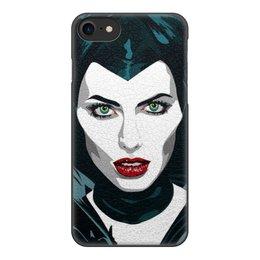"""Чехол для iPhone 7, объёмная печать """"Maleficent (Анджелина Джоли)"""" - кино, сказка, анджелина джоли, малефисента, снежная королева"""