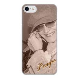 """Чехол для iPhone 7, объёмная печать """"Ретро."""" - девушка, стиль, ретро, улыбка, фотография"""