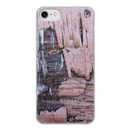 """Чехол для iPhone 7, объёмная печать """"Деревянный"""" - оригинальный, деревянный, амбарная доска"""