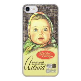 "Чехол для iPhone 7, объёмная печать ""аленка"" - шоколад, аленка"