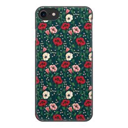"""Чехол для iPhone 7, объёмная печать """"Нотки нежности"""" - цветы, нежность"""