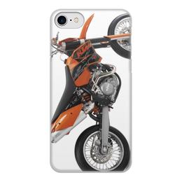 """Чехол для iPhone 7, объёмная печать """"Мото КТМ"""" - мото, байк, кросс, ктм"""
