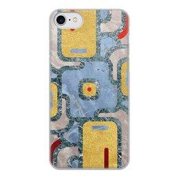 """Чехол для iPhone 7, объёмная печать """"Мандала Богатства (Золото и Мрамор)"""" - узор, орнамент, камень, богатство, премиум"""