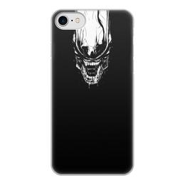 """Чехол для iPhone 7, объёмная печать """"Xenoblack"""" - стиль, alien, movie, alienmovie, ellenripley"""