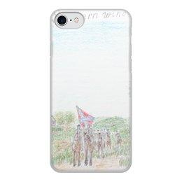 """Чехол для iPhone 7, объёмная печать """"Кавалерия Конфедерации"""" - армия, война, сша, кавалерия, гражданская война сша"""