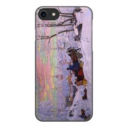 """Чехол для iPhone 7, объёмная печать """"Масленица (Кустодиев)"""" - картина, кустодиев"""