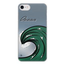 """Чехол для iPhone 7, объёмная печать """"Волна"""" - море, sea, океан, ocean"""