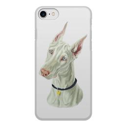 """Чехол для iPhone 7, объёмная печать """"ДОБЕРМАН"""" - иллюстрация, собаки, доберман"""