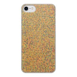 """Чехол для iPhone 7, объёмная печать """"Сандал"""" - арт, узор, абстракция, фигуры, текстура"""