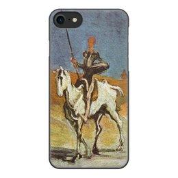 """Чехол для iPhone 7, объёмная печать """"Дон Кихот (картина Оноре Домье)"""" - картина, живопись, литература, домье"""