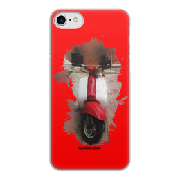 """Чехол для iPhone 7, объёмная печать """"Скутер"""" - ретро, авто, фары, скутер, автотранспорт"""