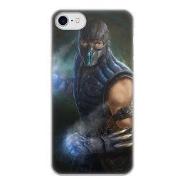 """Чехол для iPhone 7, объёмная печать """"Sub-zero"""" - mortal kombat, смертельная битва, мортал комбат, саб-зиро"""