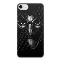 """Чехол для iPhone 7, объёмная печать """"Чёрная пантера"""" - marvel, мстители, марвел, черная пантера, black panther"""