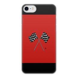 """Чехол для iPhone 7, объёмная печать """"Финишные флаги"""" - гонки, race, финишные флаги"""