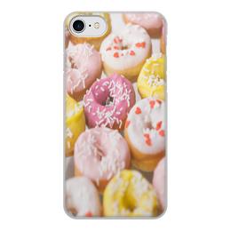 """Чехол для iPhone 7, объёмная печать """"Sweets for you"""" - пончики, sweet, donuts"""