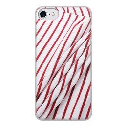 "Чехол для iPhone 7, объёмная печать ""Red Stripe"" - red"
