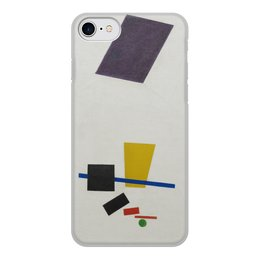 """Чехол для iPhone 7, объёмная печать """"Супрематизм. Живописный реализм футболиста"""" - футбол, картина, живопись, супрематизм, малевич"""