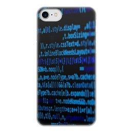 """Чехол для iPhone 7, объёмная печать """"Программа"""" - компьютеры, код, программа, пароль, кодировка"""