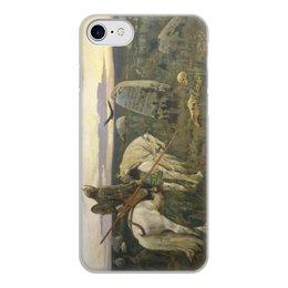 """Чехол для iPhone 7, объёмная печать """"Витязь на распутье (Виктор Васнецов)"""" - картина, сказка, живопись, васнецов, богатыри"""