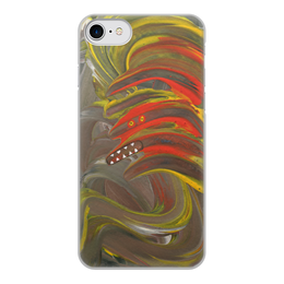 """Чехол для iPhone 7, объёмная печать """"Зубастый монстр с ирокезом"""" - монстр, панк, зубастый, ирокез, мультяшный"""