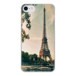 """Чехол для iPhone 7, объёмная печать """"Париж. Эфелева башня."""" - просто красивый чехол"""