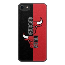 "Чехол для iPhone 7, объёмная печать ""Чикаго Буллз"" - спорт, баскетбол, chicago bulls, чикаго буллз"