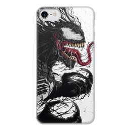 """Чехол для iPhone 7, объёмная печать """"Веном (Venom)"""" - comics, комиксы, venom, марвел, веном"""