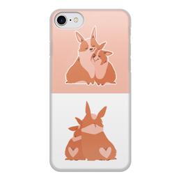 """Чехол для iPhone 7, объёмная печать """"Корги"""" - собаки, корги"""