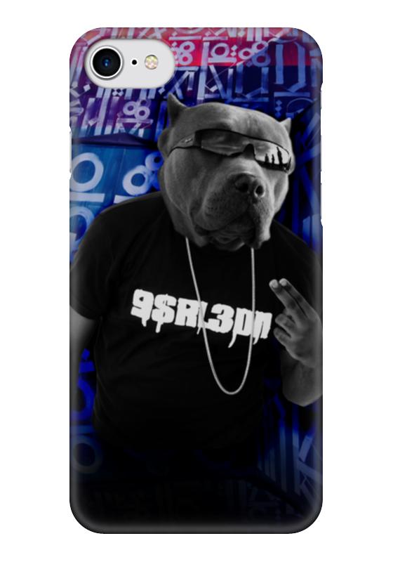 Чехол для iPhone 7 глянцевый Printio Собака в футболке чехол для iphone 7 глянцевый printio прогулки по городу