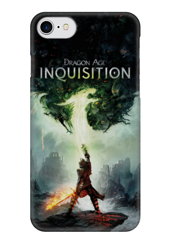 Чехол для iPhone 7 глянцевый Printio Dragon age inquisition