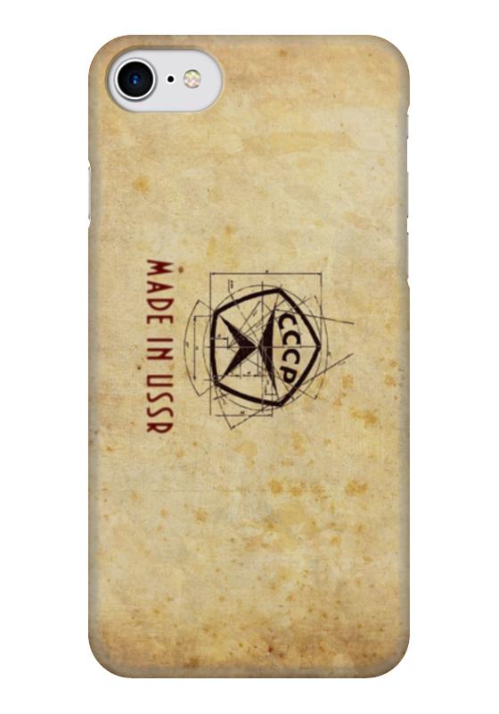 Чехол для iPhone 7 глянцевый Printio Сделано в ссср чехол для вейкборда в москве