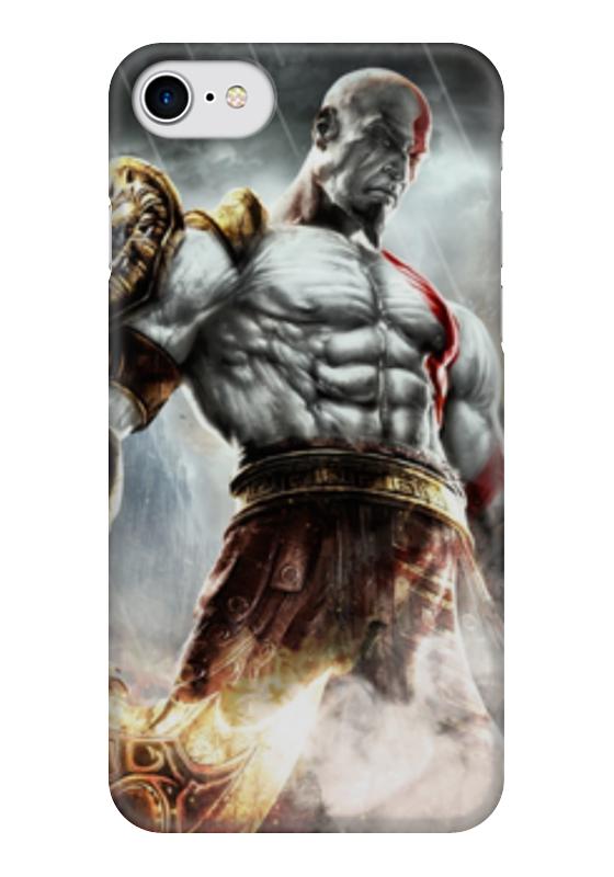 Чехол для iPhone 7 глянцевый Printio Кратос (бог войны) чехол для iphone 6 глянцевый printio hogs of war