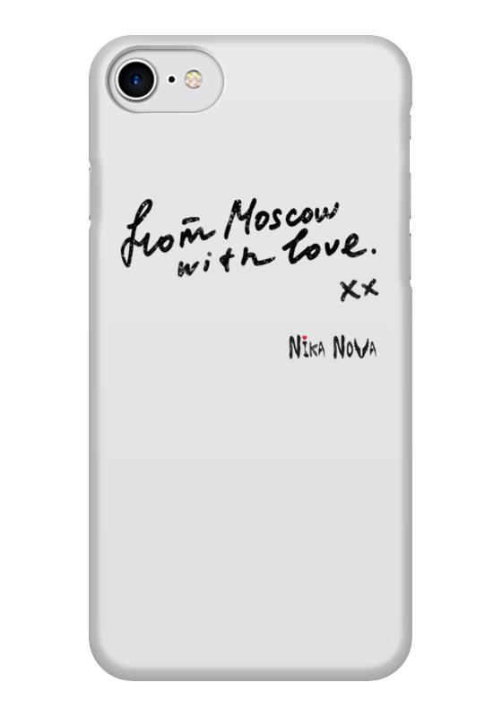 Чехол для iPhone 7 глянцевый Printio From moscow with love from china with love