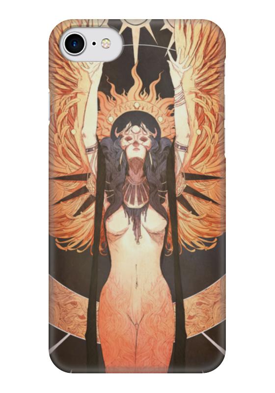 Чехол для iPhone 7 глянцевый Printio Ангел ночи джиган – дни и ночи cd