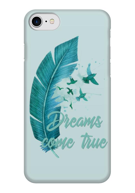 Чехол для iPhone 7 глянцевый Printio Dreams come true чехол для iphone 7 объёмная печать printio dreams come true