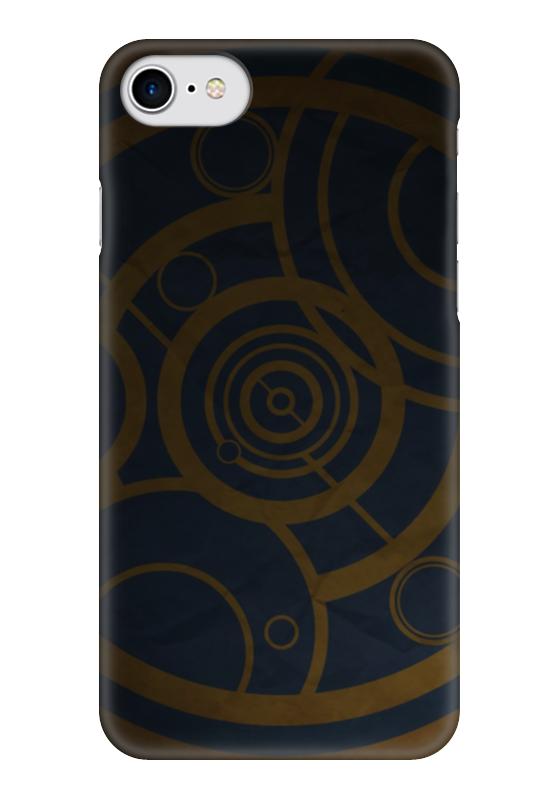 Чехол для iPhone 7 глянцевый Printio Круги (доктор кто) чехол для iphone 7 глянцевый printio time lord doctor who