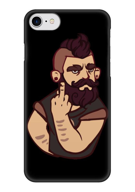 Чехол для iPhone 7 глянцевый Printio Bearded / бородач