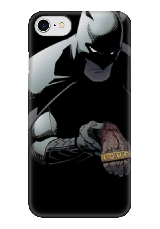 Чехол для iPhone 7 глянцевый Printio Бэтмен (batman) чехол для iphone 4 глянцевый с полной запечаткой printio бэтмен