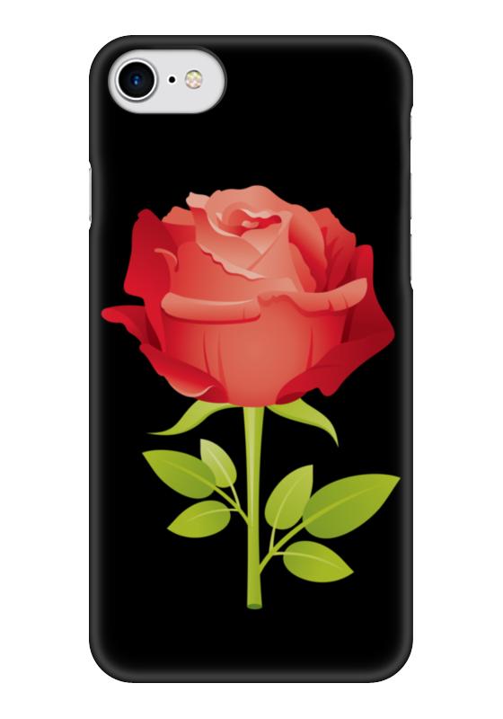 Чехол для iPhone 7 глянцевый Printio Розочка чехол для iphone 5 с подставкой с полной запечаткой printio розочка