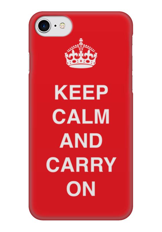 Чехол для iPhone 7 глянцевый Printio Keep calm and carry on keep calm and carry on distressed motorola droid 2 skinit skin
