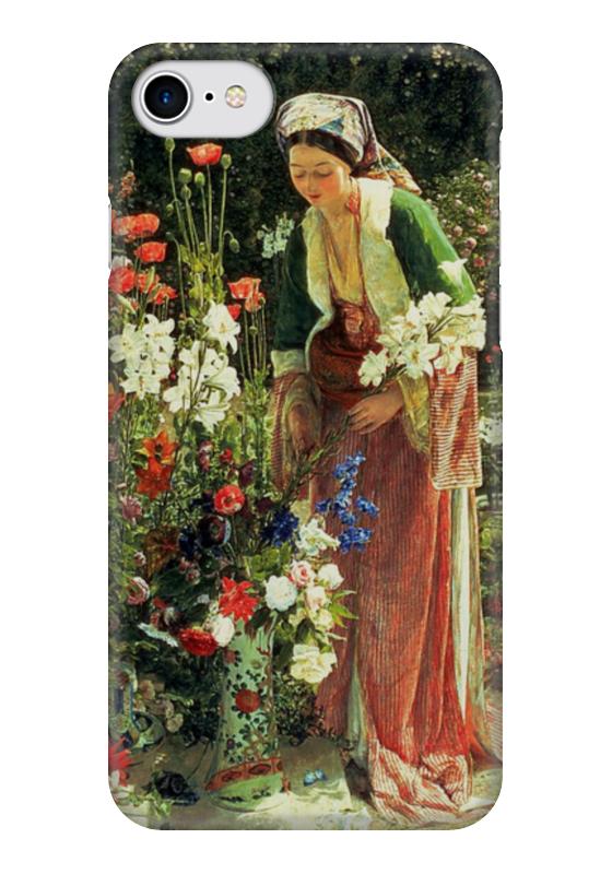 все цены на Чехол для iPhone 7 глянцевый Printio В саду бейс (картина джона льюиса) онлайн