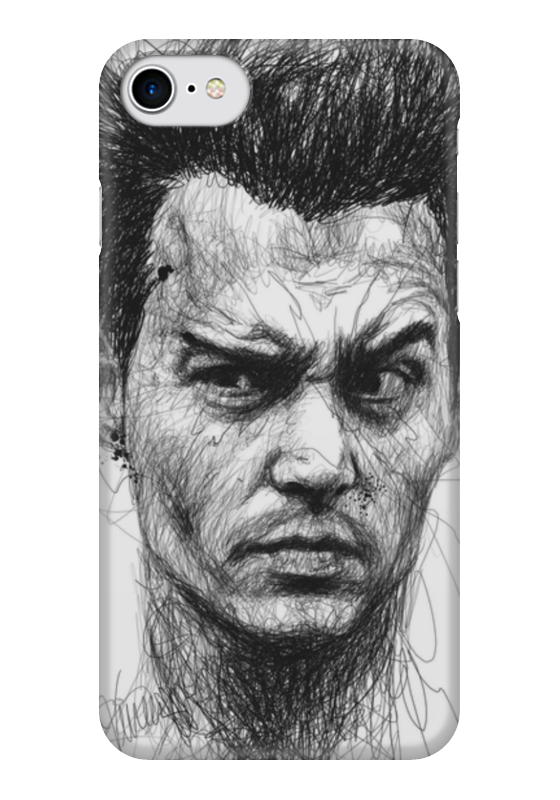 Чехол для iPhone 7 глянцевый Printio Johnny depp чехол для iphone 7 глянцевый printio альтрон мстители