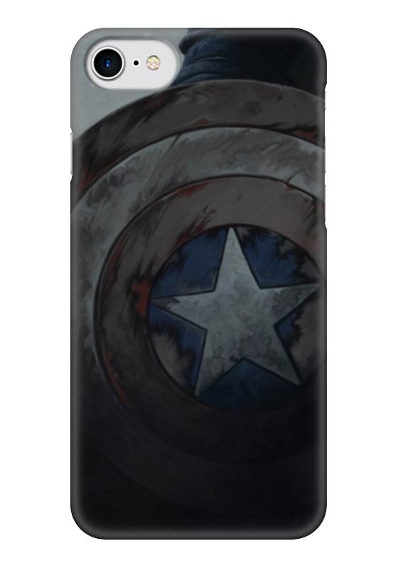 Чехол для iPhone 7 глянцевый Printio Капитан америка чехол для iphone 7 глянцевый printio horror art