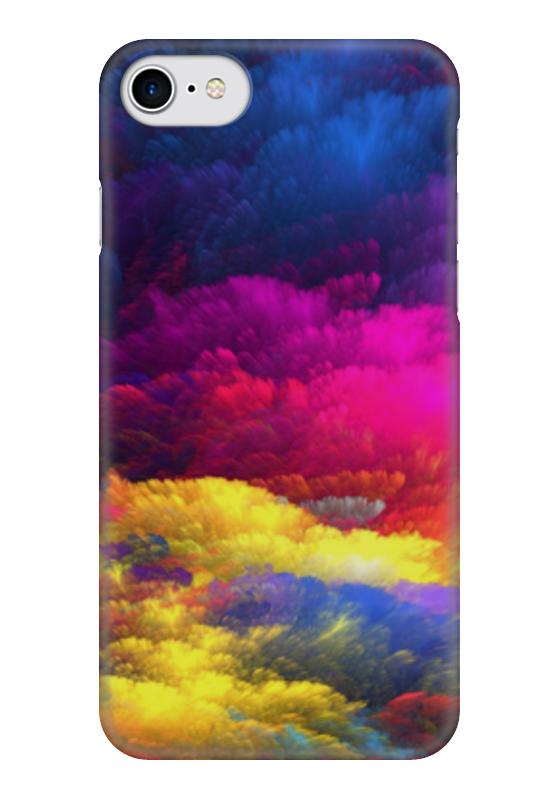 Чехол для iPhone 7 глянцевый Printio Цветное небо картленд барбара звездное небо гонконга