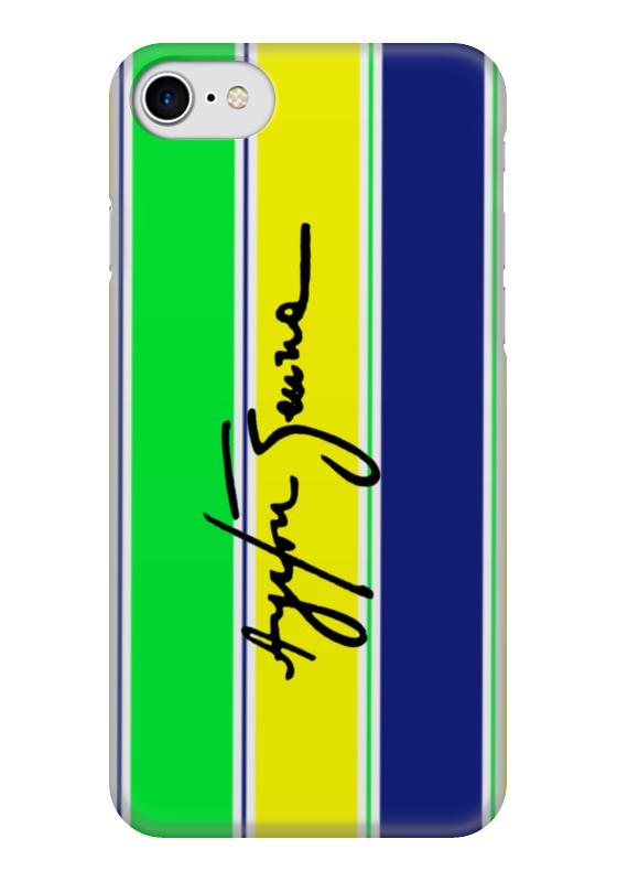 Чехол для iPhone 7 глянцевый Printio Шлем айртона сенны сенны листья 50г