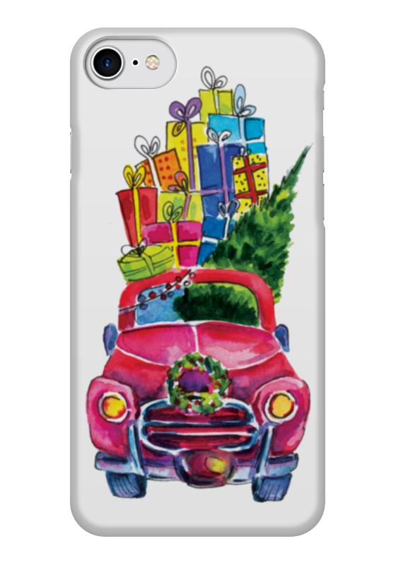 Чехол для iPhone 7 глянцевый Printio Новый год к нам мчится к нам приходит новый год