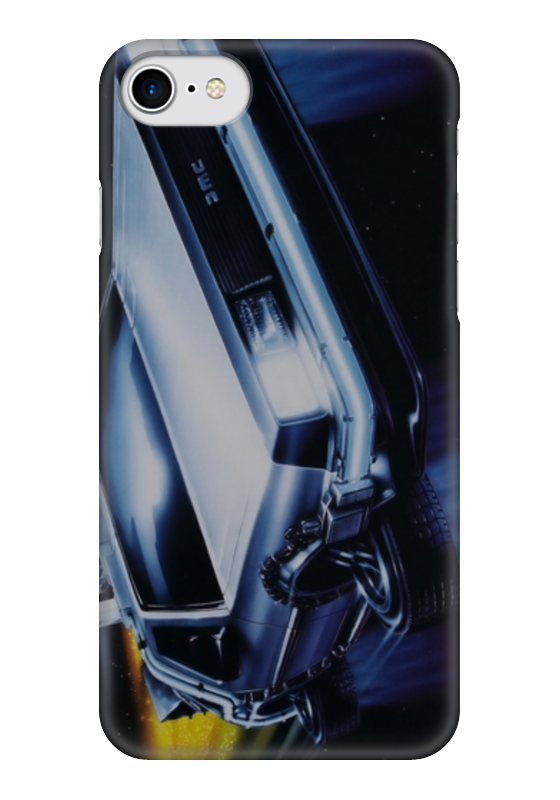 Чехол для iPhone 7 глянцевый Printio Делориан (назад в будущее) чехол для iphone 7 глянцевый printio lp chester benningtonkeys to the kingoom
