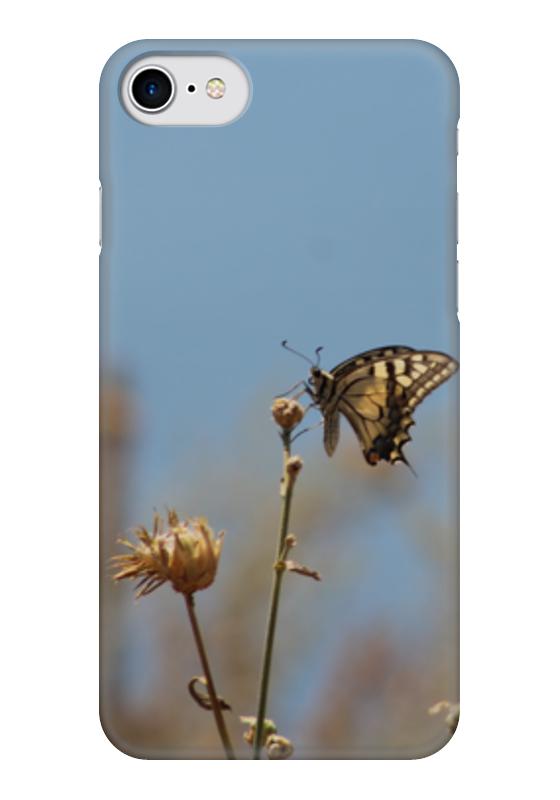 Чехол для iPhone 7 глянцевый Printio Бабочка махаон издательство махаон драконы